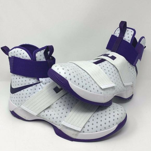 Nike LeBron LBJ Soldier 10 (White Purple) - Sz. 17 7069d9061214